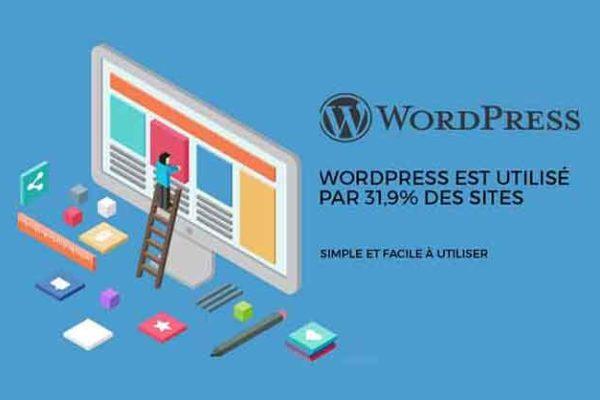 Les avantages de WordPress, utilisation simple et facile