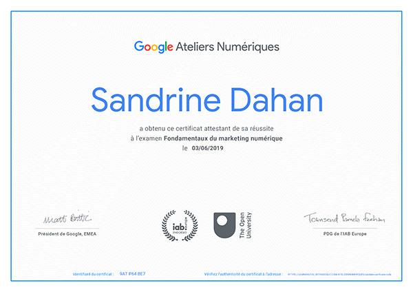 certification Google Fondamentaux du marketing numérique